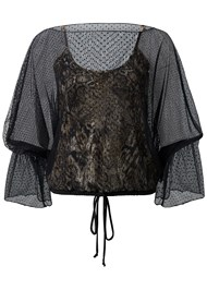 Alternate View Mesh Overlay Leopard Top