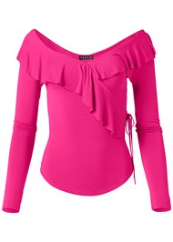 Alternate View Ruffle V-Neck Top