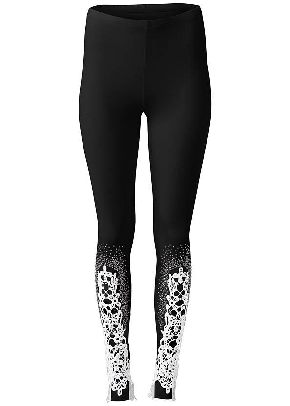 Alternate View Lace Detail Leggings
