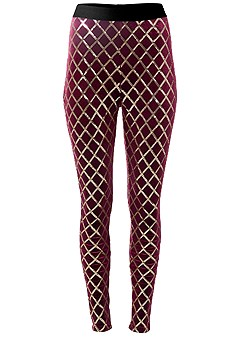 plus size sequin pattern leggings