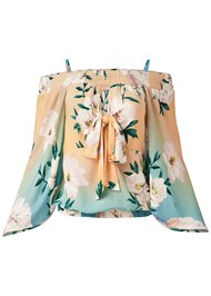 Alternate View Tie Front Floral Top