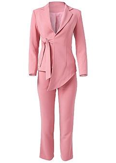 plus size asymmetrical suit set