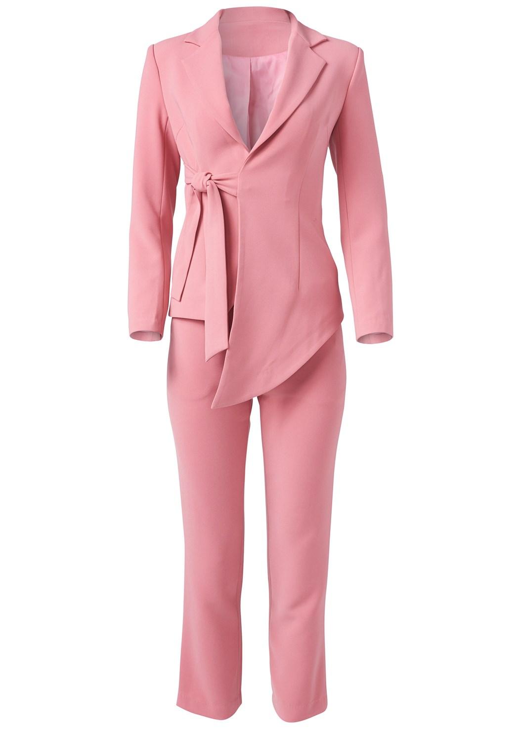 Asymmetrical Suit Set,High Heel Strappy Sandals,Embellished Lucite Heel,Hoop Detail Earrings