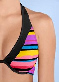 Detail front view Underwire Halter Bikini Top