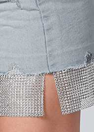 Alternate View Rhinestone Trim Denim Skirt