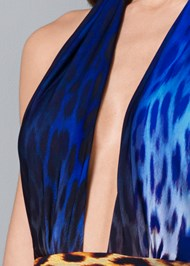 Alternate View Abstract Print Maxi Dress