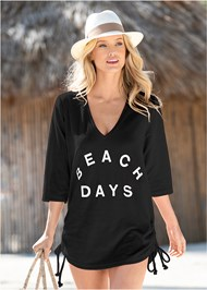 Front View Deep V Beach Cover-Up