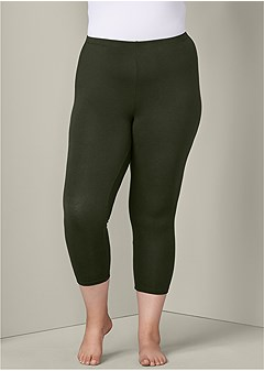 plus size basic capri leggings