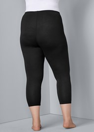 Back View Basic Capri Leggings