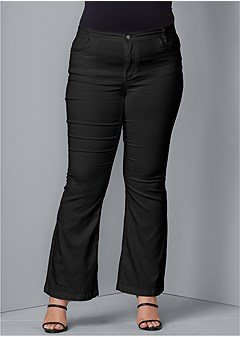 plus size casual boot cut jeans