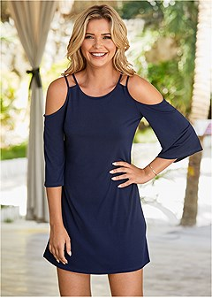 abb1b30875d cold shoulder mini dress