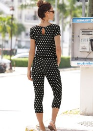 Back View Polka Dot Jumpsuit