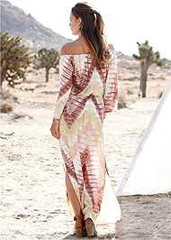 Back View Batik Print Dress