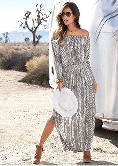 python printed maxi dress
