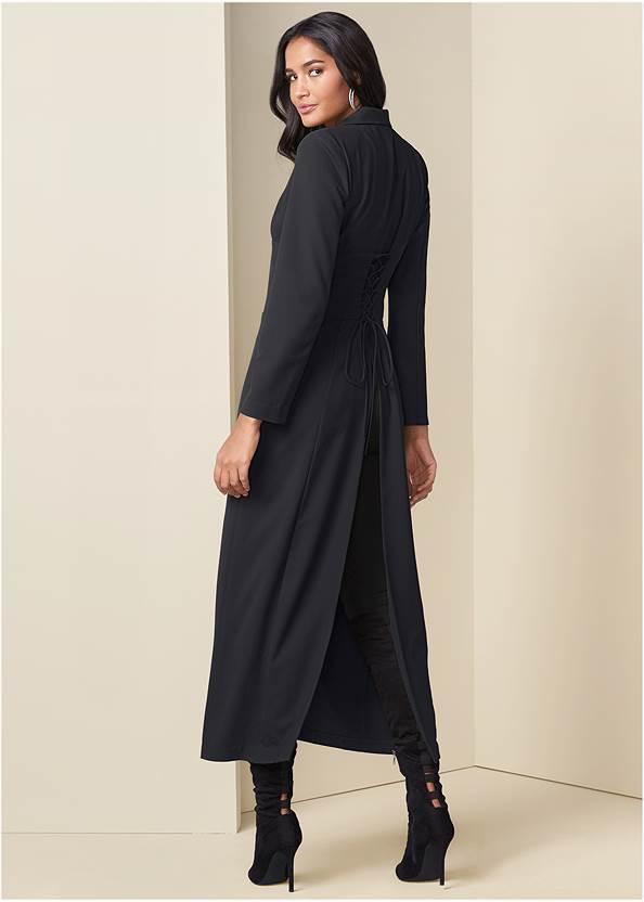 Back View Corset Detail Long Jacket