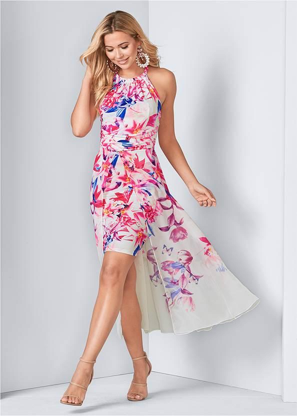 Front View Floral Print Dress