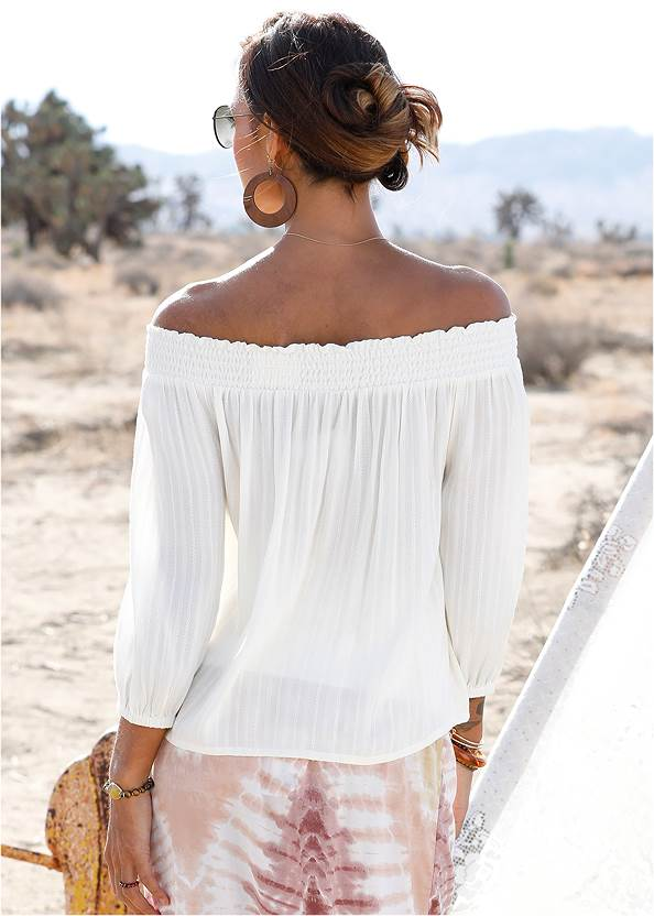 Back View Off-The-Shoulder Top