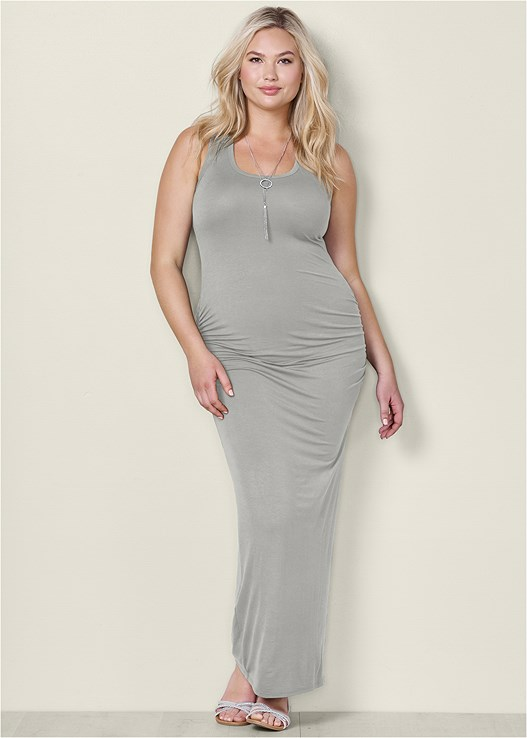 RUCHED TANK MAXI DRESS