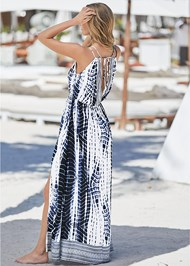 Back View Maxi Cover-Up Dress