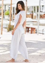 Back View Side Slit Cover-Up Jumpsuit