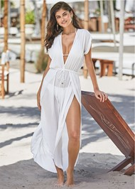 Alternate View Side Slit Cover-Up Jumpsuit