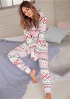 printed sleep jumpsuit