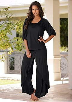 wide leg pajama set