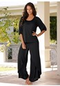 Alternate View Wide Leg Pajama Set