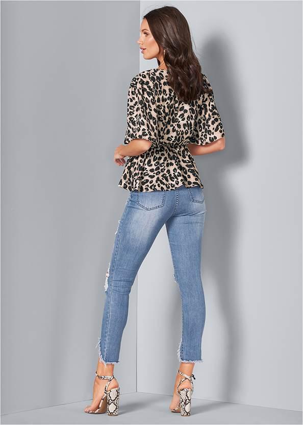Back View Leopard Corset Top