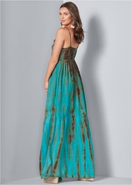 Back View Tie Dye Maxi Dress