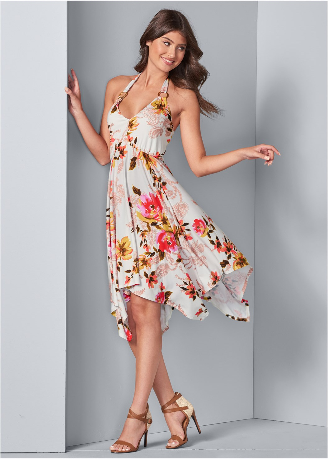 Floral Sharkbite Dress,Cleavage Enhancers,Everyday You Strapless Bra