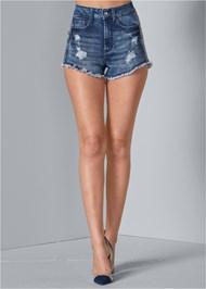 Front View Rhinestone Stripe Shorts