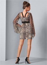 Back View Leopard Bodycon Dress