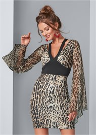 Front View Leopard Bodycon Dress