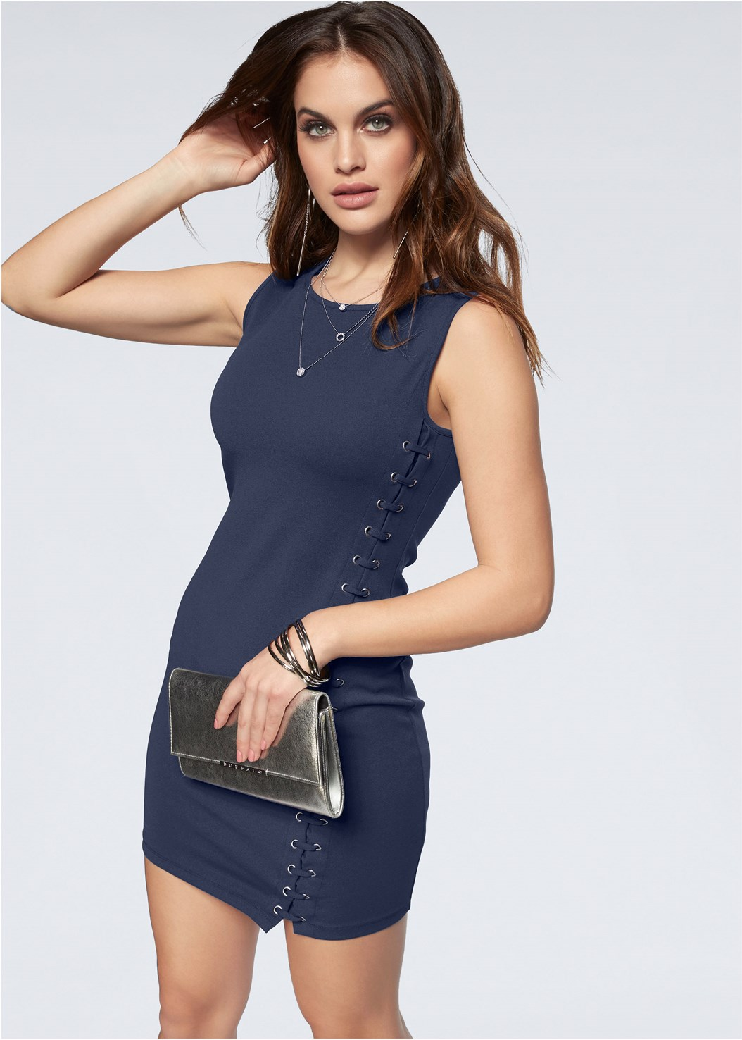 Lace Up Bodycon Dress,Push Up Bra Buy 2 For $40,Strappy Heels