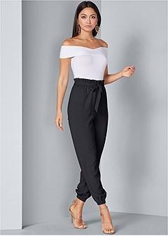 paperbag waist jogger pants