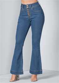 Front View High Waisted Flare Jeans