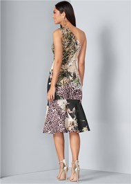 Back View Floral Animal Bodycon Dress