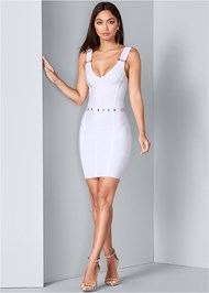 Full Front View Slimming Bodycon Dress