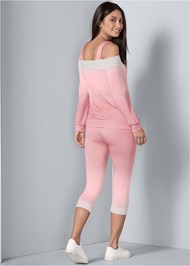 Back View Ombre Lounge Capri Set