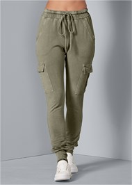 Front View Cargo Lounge Joggers