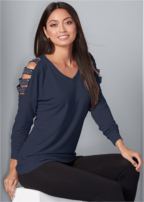 Embellished Sweatshirt,Basic Leggings,Push Up Bra Buy 2 For $40