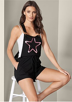 star detail lounge overalls