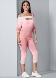 Front View Ombre Lounge Capri Set