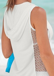 Alternate View Fishnet Hooded Cover-Up