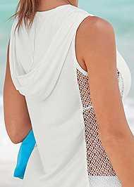Alternate View Fishnet Hooded Cover-Up