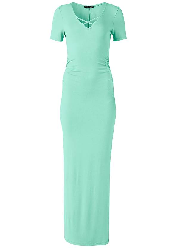 Alternate View Ruched Maxi Dress