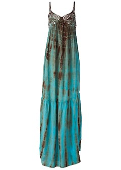plus size tie dye maxi dress