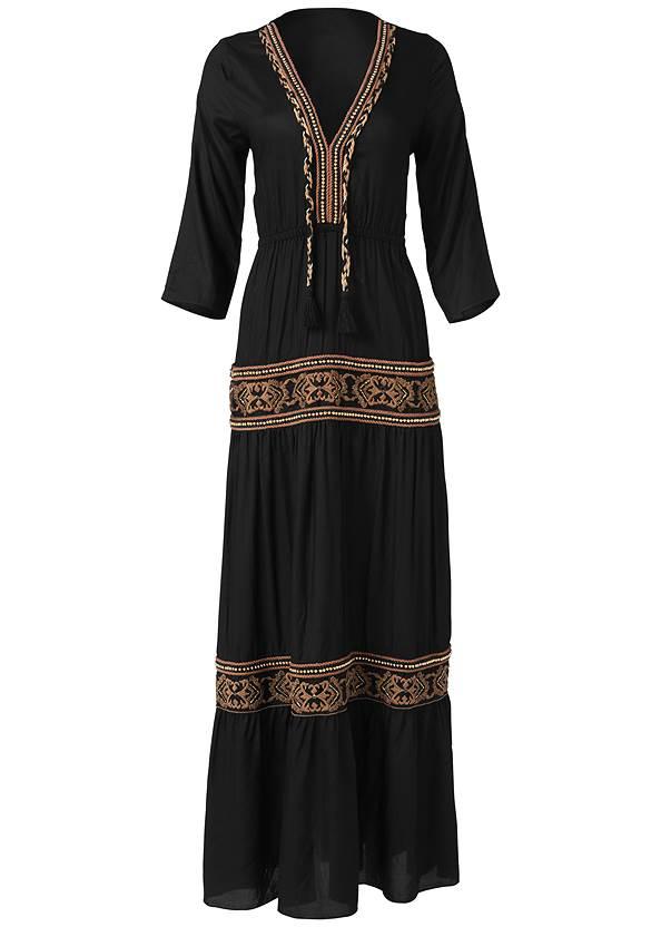 Alternate View Beaded V-Neck Maxi Dress