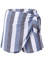 Alternate View Linen Wrap Front Shorts